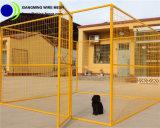 黄色い粉上塗を施してある携帯用に犬の犬小屋の囲うこと