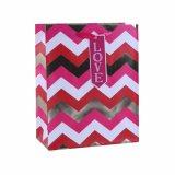 Sacos de papel vermelhos de presente de casamento dos cosméticos do chocolate do coração do dia do Valentim