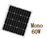 モノラル60W太陽電池パネル25年の出力電力保証の