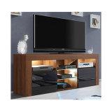 TV suporte de TV de mobiliário de madeira foto