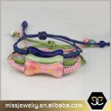 Porzellan-Seil-umsponnenes Armband, Großhandelsmacrame-Armbänder Msbb036