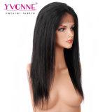 Yvonne 180 조밀도 흑인 여성을%s 자연적인 똑바른 레이스 가발