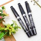 La penna nera del regalo di affari della penna del rullo del metallo con imprime il marchio (LT-E100)