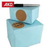 Le décor de empaquetage de collant d'usager de cadeau de papier de faveur vous remercient étiquette d'étiquette de cachetage