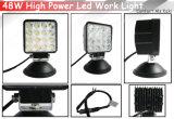 luz brillante del trabajo de 48W Epistar LED para el vehículo de la ingeniería (1015-48W)