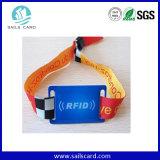 Дорожки парка RFID Соткана ткань браслеты в подарок для продвижения