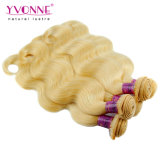 Yvonne Virgem peruano de cabelo humano de tafetáCor da onda do corpo #613