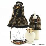 Vêtements royaux de crabot de réseau avec la robe d'animal familier de laisse avec le harnais