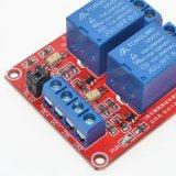 модуль релеего пуск Supportthe канала 5V/12V/24V 2 высокий и низкоуровневый (красная доска)