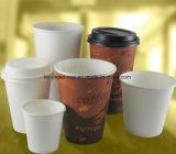 Tazza di carta a gettare su ordinazione per la bevanda calda del caffè caldo caldo della bevanda