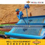 Vibrierender Schleuse-Kasten für alluviale Goldverarbeitungsanlage-Trommel-waschende Pflanze
