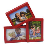 Het rode 3-opent Frame van de Foto van de Injectie voor Inzameling