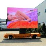 Móvil a todo color al aire libre LED de P6mm que hace publicidad del acoplado de la pantalla LED