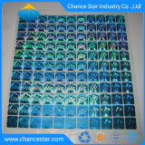 주문 인쇄 3D Tamper-Proof 파란 홀로그램 스티커