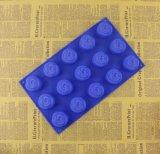 Moulage de fondant de savon de gâteau de silicones de forme de fleur de Rose de 15 cavités