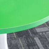 Hot of halls Round Coffee Table with White Metal base for meeting Chair