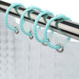 Plástico ABS de los anillos de cortina de ducha con imanes para cortina de ducha