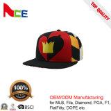 卸売は綿織物6のパネルの赤い中心によって刺繍されるFlexfitの帽子をカスタマイズする