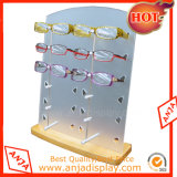 Présentoir de Sunglass en métal d'étage pour la mémoire
