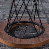 Round type simmers Table for Leisure Chair with Metal Wire Structure