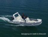 Bateaux gonflables rigides de Liya 17feet pêchant les bateaux gonflables de côte