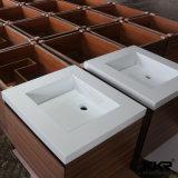 Festes Oberflächenbadezimmer-Eitelkeits-Schrank-Wäsche-Handbassin