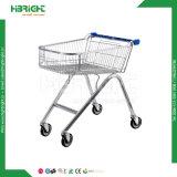 Supermarkt-verzinkter Einkaufswagen mit guten Rädern