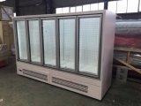 Оптовый чистосердечный стеклянный холодильник индикации двери