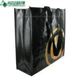 Emballage de achat tissé par pp stratifié lustré/mat de logo estampé par coutume
