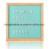 Placa mutável da letra de feltro do frame feito sob encomenda do carvalho do tamanho
