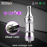 Seego G-Hit K2 Série vaporisateur EGO Clearomizer Antenne double avec un énorme de la vapeur