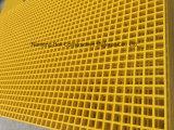Las rejas del plástico reforzado fibra de vidrio, FRP moldearon Graitng, hoja Grating del panel de GRP