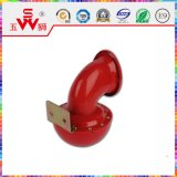 Roter Metallschnecke-Hupen-Lautsprecher
