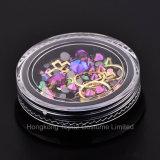 De gemengde Micro- van het Ontwerp van de Spijker Kleurrijke Parels en Kunst van de Spijker van de Cirkel van de Halfedelsteen 3D schitteren de Purpere niet Bergkristallen van de Diamant Hotfix (nr-12)