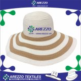Sombrero de papel de la playa de la paja de las mujeres (AZ019A)