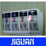 O costume imprimiu a etiqueta adesiva do tubo de ensaio do frasco da injeção do holograma 10ml