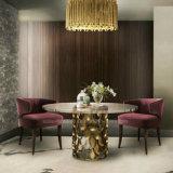 Tapicería de madera antigua de la tela de los muebles del restaurante que cena la silla con el brazo