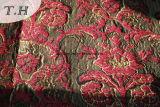 Fornitore rosso del tessuto del jacquard del Chenille (FTH31178)