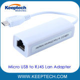 O pino 5 micro USB para adaptador de LAN Ethernet RJ45 para o SO Android Tablet