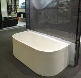 Pietra Smoothback serico bianco puro di superficie solido della resina della pagina per murare vasca da bagno per il bagno d'inzuppamento