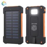 Cargador universal solar de la batería 10000mAh Warterproof de la energía del USB de la iluminación del LED