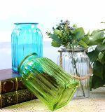 Florero de vidrio de colores para la decoración del hogar