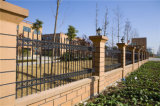 Clôture résidentielle de jardin de garantie noire décorative élégante de haute qualité