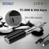 Seego Vhit 물 돌릴수 있는 마우스피스 기화기 & Tc 50W 2000mAh 건전지 E Cig 시동기 장비