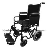 """12 """" rueda trasera, manual, acero, sillón de ruedas de la economía, Kbw8711-17 """""""