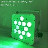 12X15W RGBWA batería Inalámbrico UV Luz PAR