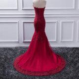 Высокое качество плюс платья вечера Spandex размера шифоновые
