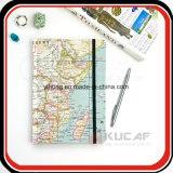 Kundenspezifisches Karten-Muster-harter Deckel-Arbeitsweg-themenorientiertes Zapfen-Notizbuch A4