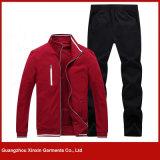 Capa de la chaqueta de Hoody del deporte de la manera del Mens y juego de pantalones para los muchachos (T74)