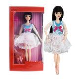 Boneca plástica encantadora da forma da menina doce como o presente